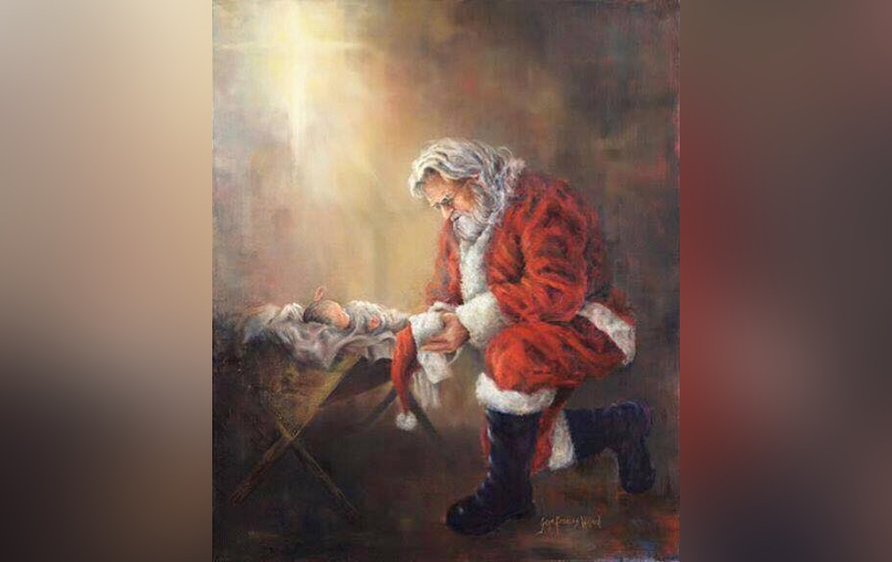 Facebook censors image of Santa kneeling before baby Jesus, calls it 'violent content'